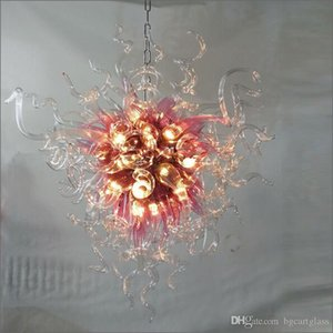 Incredibile Chihuly Decorative Light Fixtures 120v / 240v bulbi da fiore LED a mano Progettato soffiato Lampadario in vetro di Murano Design per il soffitto
