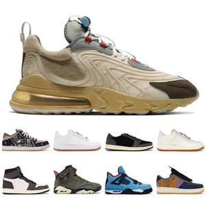 nike travis scott air force 1 Cactus Jack max 270 react Trails hombres mujeres zapatos para correr 4s 1s azul blanco negro hombres entrenadores moda patineta zapatillas