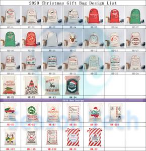 2020 regalo de Navidad Bolsas Orgánico grande y pesada bolsa de mano de Santa saco del bolso de lazo con los renos de Santa Claus saco Bolsas para niños