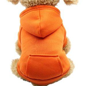 doméstico de la capa con capucha ropa del gato del perro de bolsillo sudaderas Hoodied poliéster caliente gruesa ropa de la ropa del otoño abrigo de invierno 2019 # 40