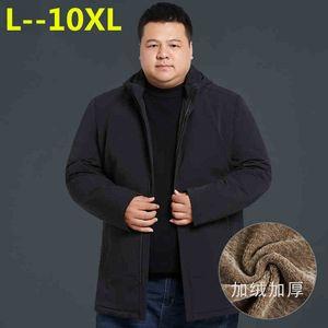 10XL 8XL 6XL New Winter Jacket Men -20 Degree Thicken Warm Men Parkas Hooded Coat Fleece Man's Jackets Outwear Jaqueta Masculina
