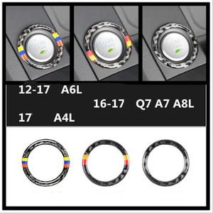 Модный Дизайн Углеродного Волокна Автомобиля Двигателя Зажигания Пуск Стоп Кнопка Брелок Накладка Наклейка Наклейки Для Интерьера Аксессуары Для Audi Q5 Q7 A6L A4L