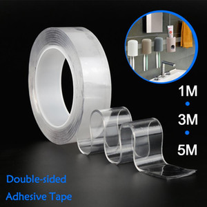 1m 3m 5m Double Sided Tape Washable Reuse Nano Magic Tape Transparent No Trace Waterproof Adhesive Tape Nano Clear
