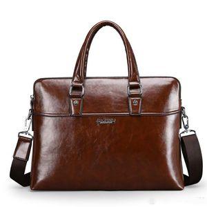Erkek Deri Çanta Çanta İş Dizüstü Tote Çanta Erkek Crossbody omuz çantası Erkekler Messenger Seyahat Çantaları