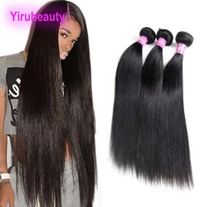 Brezilyalı Virgin İnsan Saç 3 Paketler 30-40 inç Uzun Inç Düz Saç Uzantıları Çift Atkı 95-100 g / adet Demetleri