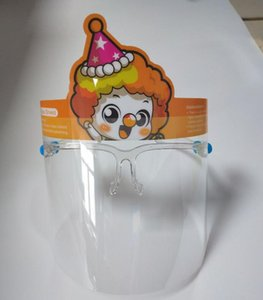 9styles Дети Cartoon Face Shield с очки кадров Прозрачные маски анфас Обложка Anti-Fog лица ПЭТ Дети Маска Faceshield GGA3619