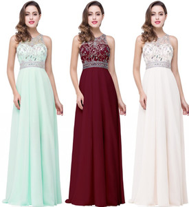 Cheap Sequined Beaded A-line Prom Dresses Vintage Evening Gown Sexy Open Back Bridesmaid Formal Party Pageant Dress CPS254