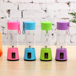 400ml 6 Blades Portable Mini Electric Juicer USB Rechargeable Juice Cup Fruit Juice Maker Cup WB1826
