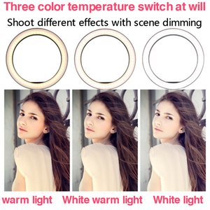 6 inch 10 inch ring light with stand led beauty ring light selfie tripod phone holder video light makeup tripode Camera for youtube studio