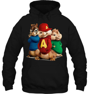 Men Hoodie Men's Animated Comedy Alvin And The Chipmunks Women Streetwear