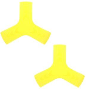 1 par de natación Snorkel Buceo elástico de silicona suave del pie Aletas Aleta Keepers Pinzas correas S / M / L azul / amarillo / rosa