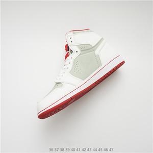 1 zapatos para hombre de OG baloncesto Chicago 1S 6 anillos de las zapatillas de deporte del dedo del pie Bred Formadores mujeres de mediana nuevo amor UNC deporte Zapatos prohibidos los zapatos del diseñador