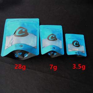 3 Tamanho 28g 7 g 3,5 g Vermelho Azul cookies Zipper Cheiro Bags prova embalagem stand up pouch seco Herb Criança Função Proof