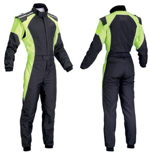 Yeni arrivel araba yarışı takım elbise tulum ceket pantolon turuncu yeşil, mavi boyut XS..4XL erkekler ve kadınlar yanmaz değil giymek set