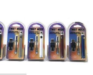vaporizer pen vape oil cartridge e cigarette kit adjustable voltage mode pen twist VV 650mah bud pen mini e cigarette kit honey oil smoking