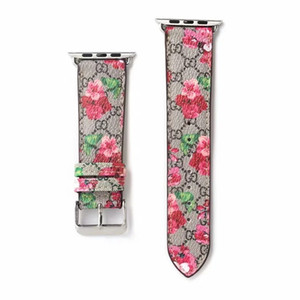 El reloj de lujo de Apple Band 38mm 40mm 42mm 44mm Correa Marca abeja serpiente Flor diseñador de moda ajustable banda para Apple iWatch Watch54321 A05