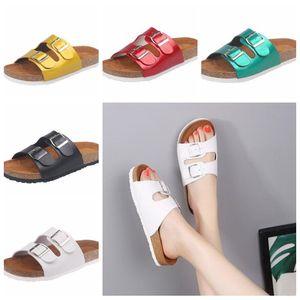 Cork Sandals Solid Flip-flops Slipper Large Size Summer Sandles Beach Antiskid Slippers Buckle Casual Slipper Sandalias Footwear Shoes D5682