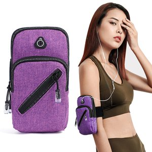 Universal Zipper Sport Running Arm band Bag Cover Wallet Holder Outdoor Pocket On Hand Gym Belt Phone Case For iPhone 11 Pro Max