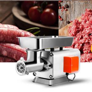 Aço 110V / 220V elétrica inoxidável metal Meat Grinders Home Kitchen Mincer desktop automático Meat Slicer Sausage Criador Cortador de máquina