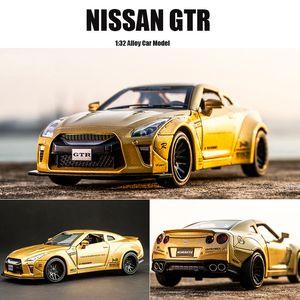 Nova 1:32 Nissan Gtr Liga Alloy Car Modelo Diecasts Toy Vehicles Toy Cars Frete Grátis Kid Brinquedos Para Crianças Presentes Menino Brinquedo J190525