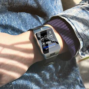 2020 DZ09 SmartWatch Bluetooth con Smart Relojes cámara GT08 A1 U8 inteligente reloj Android Para Andriod móviles con pasómetro registro de sueño