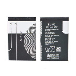 NEW جودة عالية 1020mAh BL5C BL5C استبدال بطاريات بطارية الهاتف المحمول لنوكيا 1112 1208 1600 2610 2600 N70 N71 BL 5C