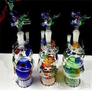 El nuevo dragón hookah por mayor de bongs de vidrio quemador de aceite Pipas de agua de cristal plataformas petrolíferas más totalmente gratis