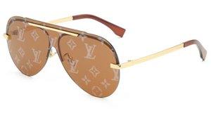 Livraison gratuite lunettes de soleil rétro en preuve concepteur des hommes vintage sunglasse de qualité supérieure des femmes de cadre d'or brillant avec boîte