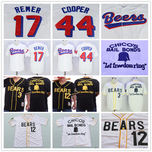 Genähte Milwaukee Beers # 44 Joe Cooper 17 Doug Remer Bad News Bears 12 Tanner Boyle 3 Kelly Leak Film Retro Filme Baseball-Shirts
