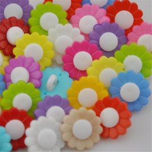 500PCS Mix bottoni in plastica forma colori di semi di girasole 1 foro per cucire bambini Bottoni, trasporto libero PT78
