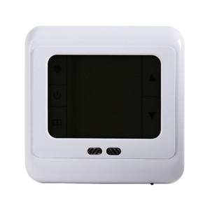 Freeshipping Programlanabilir Termostat Oda Yerden Isıtma Sistemi Sıcaklık Kontrol LCD Beyaz Mavi Yeşil Backlight Dokunmatik Ekran
