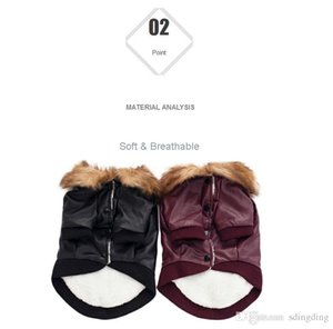 Pet Clothing New Autumn and Winter Jackets Dog Fur Coats Leather Winter Warm Puppy Dog Vest DH0311