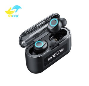 Vitog w1 Wireless Bluetooth Earphone with Microphone Sports Waterproof Wireless Headphones Headsets Touch Control Music Earbuds For Phone