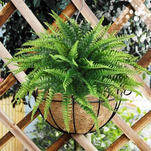 6PCS / 많은 녹색 식물 페르시아 잔디 인공 식물 물 잔디 펀 무리 홈 인테리어 시뮬레이션 장식 식물