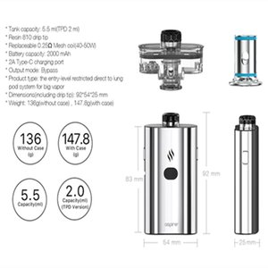 100% Original Vape Coil Aspire New Cloudflask Mesh 0.25ohm coil Fits For Cloudflask Pod For Free Shipping