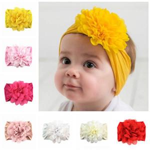 мягкий нейлон ребенок ободки шифон цветочного новорожденный дизайнер оголовье принцесса дизайнер повязки девушка ленты для волос девушки аксессуары для волос A5461
