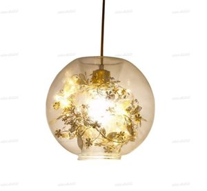 Post modern glass chandelier Nordic stainless steel creative table lamp LED modern simple net red bedroom bedside lamp LLFA