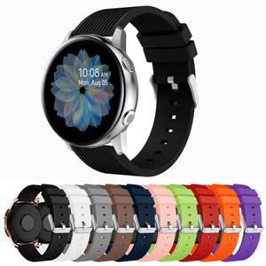 20mm raya de silicona banda de reloj de la correa de reloj para la galaxia activa 2 40mm 44mm Deporte banda de goma