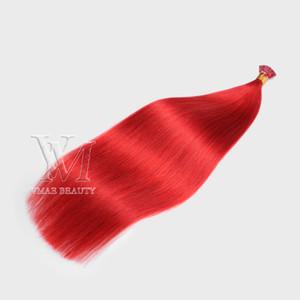 VMAE Großhandel 11A Top Grade Real Unversorgungsmäßige Jungfrau Remy doppelt gezeichnet #bug Seide gerade I Tip Flache Spitze U Tip Human Hair Extensions