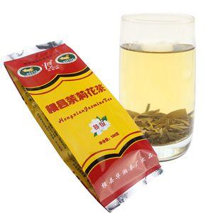 Preferências 100g orgânico verde chá chinês Hengxian Jasmine Flower chá cru Saúde chá nova Spring Green Food Factory Direct Sales