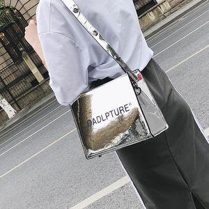 Designer-2018 Kadınlar Kare Mektuplar Çanta Moda Renkli Baskı Çanta Bayanlar Büyük Omuz Çantası Tote Casual Bolsa Çapraz Vücut Çanta Jiajia / 9