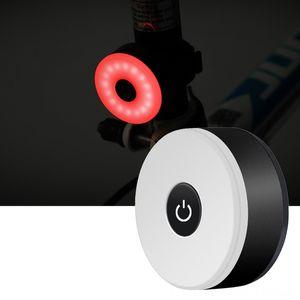 USB-Laderücklicht wasserdichten Sicherheits-Warnlicht Bergfahrradzubehör Fahrrad-Fahrrad-COB-LED Tailight 5 Modi Fahrrad hinten Ligh