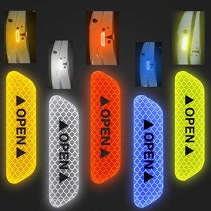 4шт автомобилей Открыть Светоотражающие ленты светоотражающие полосы водонепроницаемый Предупредительные наклейки Ночь Driving Safety Освещение Светящиеся Tapes Горячие