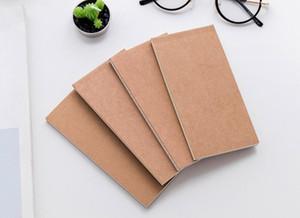 Mini bolso do couro notebook papel do vintage papelaria notebook atacado Kraft notepads papel lápis esboço desenho notas livro