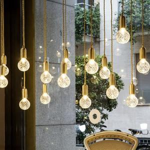 Ananas pendentif en cristal clair verre Ball Drop Loft suspension à lumière droplight Lustre avec ampoule G9