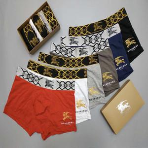 Sous-vêtements respirant doux et solides sous-vêtements masculins élégants pour hommes Males de coton Bulge Boxer Trunks Slips chaud