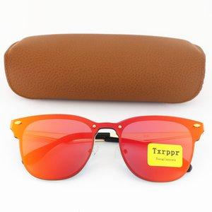 qualidade Novo Top Homens Esportes óculos de sol para as Mulheres Moda Vassl Óculos de sol do metal do ouro Frame Vermelho lente 54 milímetros colorido Venha Box Brown