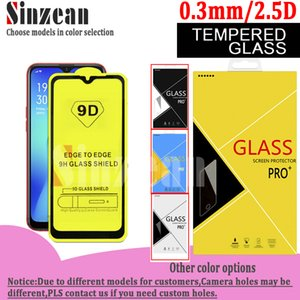 9D pleine colle en verre trempé écran protecteur pour OPPO Realme X50 Pro 5G / Realme 5i / Realme X2 Pro / Realme x2 Dans CARTON
