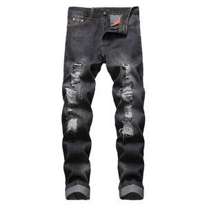 Herren Jeans heiße Art und Weise zerrissene Loch-Jeans Männer aushöhlen Beggar geerntete Motorrad-Radfahrer-Hosen der Männer Cowboys Demin Hosen