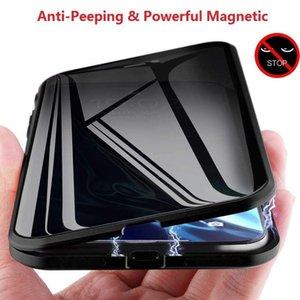 iPhone Xr Vaka Gizlilik Koruması Anti-dikizlemek için Manyetik Çift iphone 11 6.5 Pro Max Xr XS İçin Temperli Telefon Kılıfı Taraflı